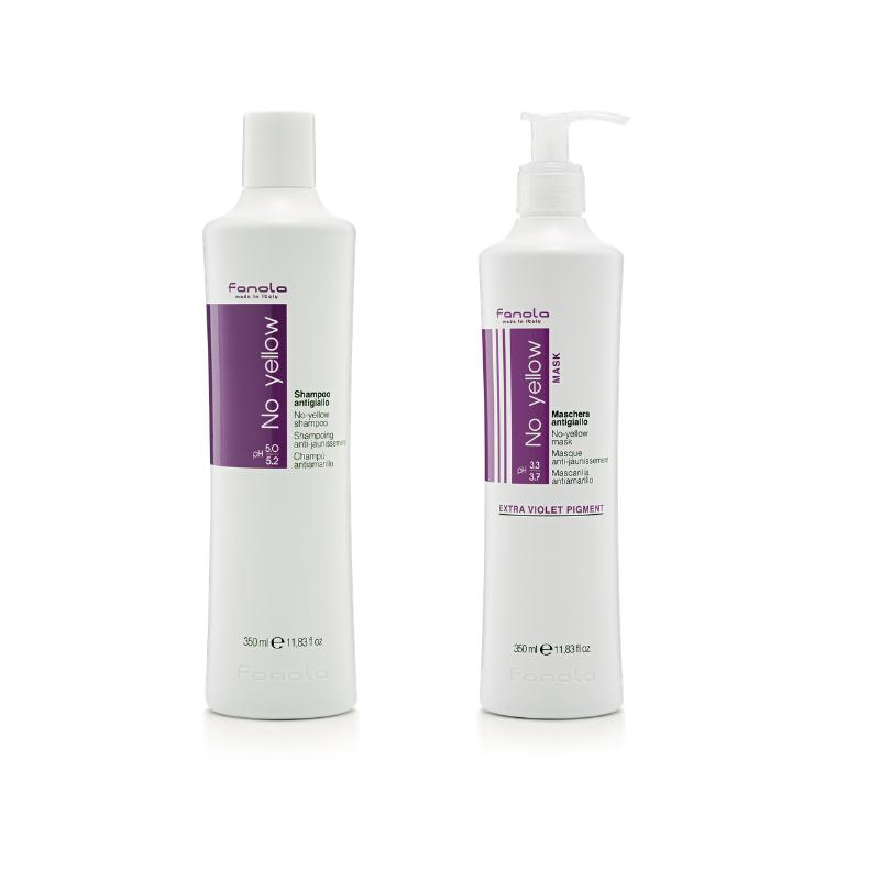 Fanola No Yellow Shampoo & Mask 350ml - Haircare Heaven